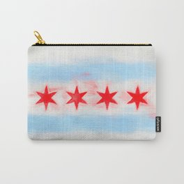 Chicago Flag Reworked No. 16, Series 6 Carry-All Pouch
