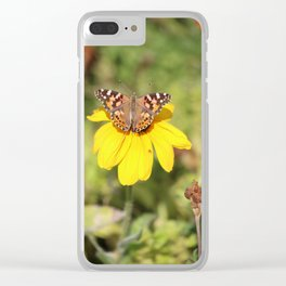 Autumn Butterfly Colors Clear iPhone Case