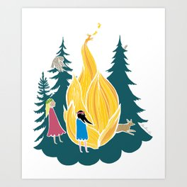 Midsummer bonfire (Kokko) Art Print