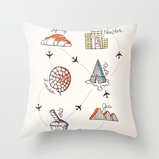 Sweet Travel Throw Pillow