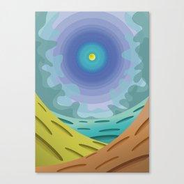 The last sun Canvas Print