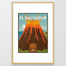 Volcanoes of El Salvador Framed Art Print