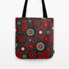 Dark Romance Floral Tote Bag