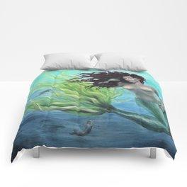 Calypso Nude Mermaid Underwater Comforters
