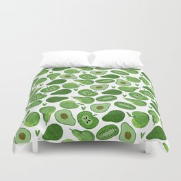 Green fruits and vegetables Duvet Cover