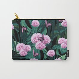 Tropical Peonies Dream #1 #floral #foliage #decor #art #society6 Carry-All Pouch