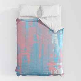 Transgender Pride Rough Crosshatched Paint Strokes Comforters