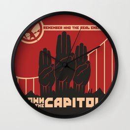 Down With The Capitol - Propaganda Wall Clock
