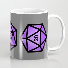 Purple d20 Coffee Mug