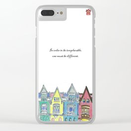 Lifetchen Inspirational Phonecase- Georgetown Houses Clear iPhone Case