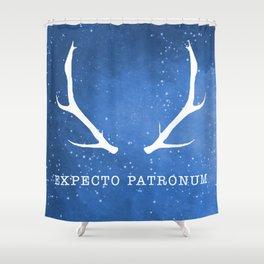 Expecto Patronum Blue Shower Curtain