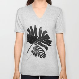 Tropical Monstera Finesse #2 #minimal #decor #art #society6 Unisex V-Neck