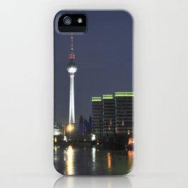 Night at river Spree in BERLIN iPhone Case