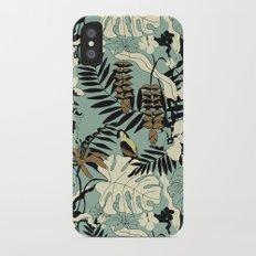 Modern Jungle Rain Forest Minimalist Parrot iPhone X Slim Case