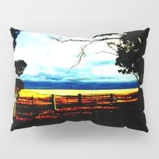 Storm clouds over wheat Fields Pillow Sham