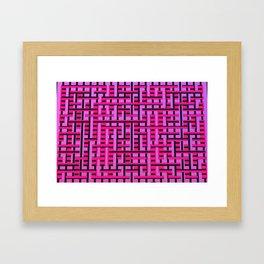 Modern fence Framed Art Print