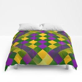 Harlequin Mardi Gras pattern Comforters