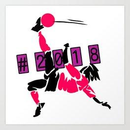 Soccer world cup russia 2018 Art Print