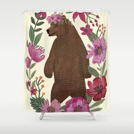 Floral Bear Shower Curtain