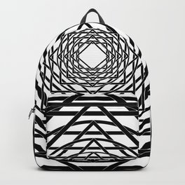 Diamonds in the Rounds B&W Backpack