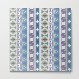Striped pattern , blue and grey, striped pattern, blue, vertical stripes Metal Print