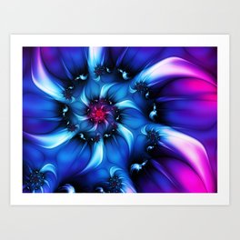 Neon Colors, Abstract Fractal Art Art Print