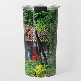 Lourdes University-  Behind the Portiuncula  Chapel Travel Mug
