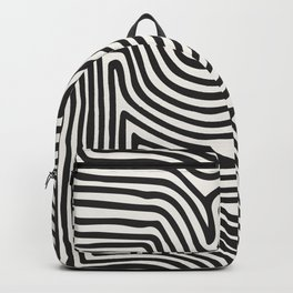 Abstract Line Art, Black And White Art, Abstract Art Print, Minimalist Poster, Abstract, Abstract Pr Backpack