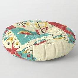 Retro Space Age Fun! ©studioxtine Floor Pillow