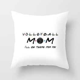 Volleyball mom. Mother gift for volley fan Throw Pillow