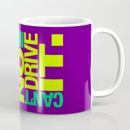 Yes it's fast No you can't drive it v7 HQvector Coffee Mug