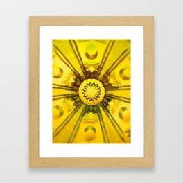 Looking Glass - Yellow Framed Art Print