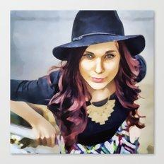 Her own fashion show Canvas Print