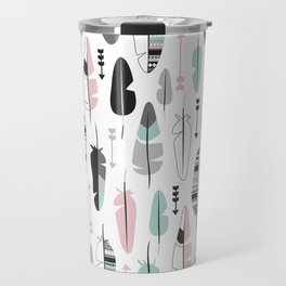 Arrows and feathers summer pattern Travel Mug