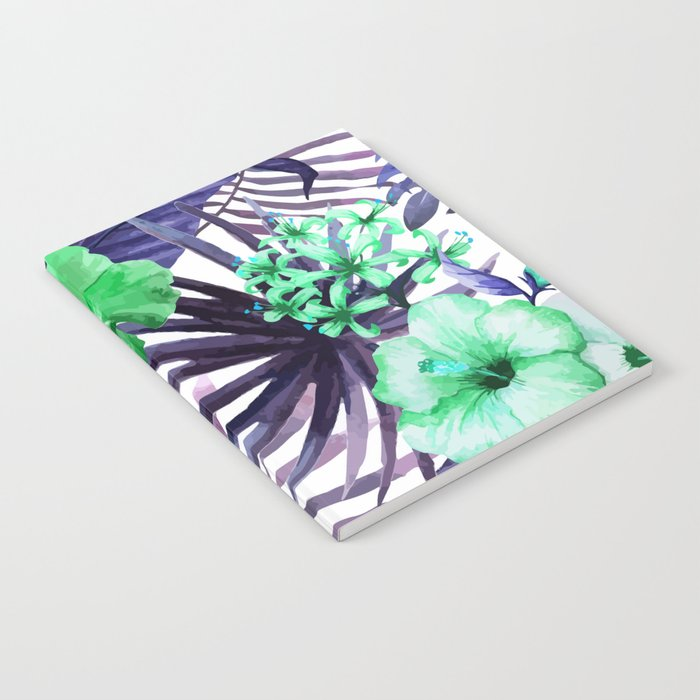 Watercolor botanical leaves Notebook