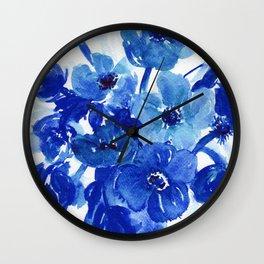 blue stillife Wall Clock