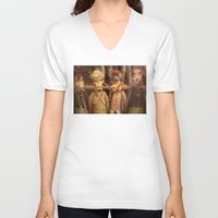 dungeons and dragons V-neck T-shirts featuring DRAGONS by Logram