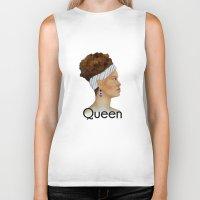 queen Biker Tanks featuring Queen by Nina Bryant Studio