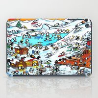 ski iPad Cases featuring Penguin Ski by Phil Fung