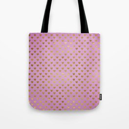 Gold Hearts Passion Pink Tote Bag