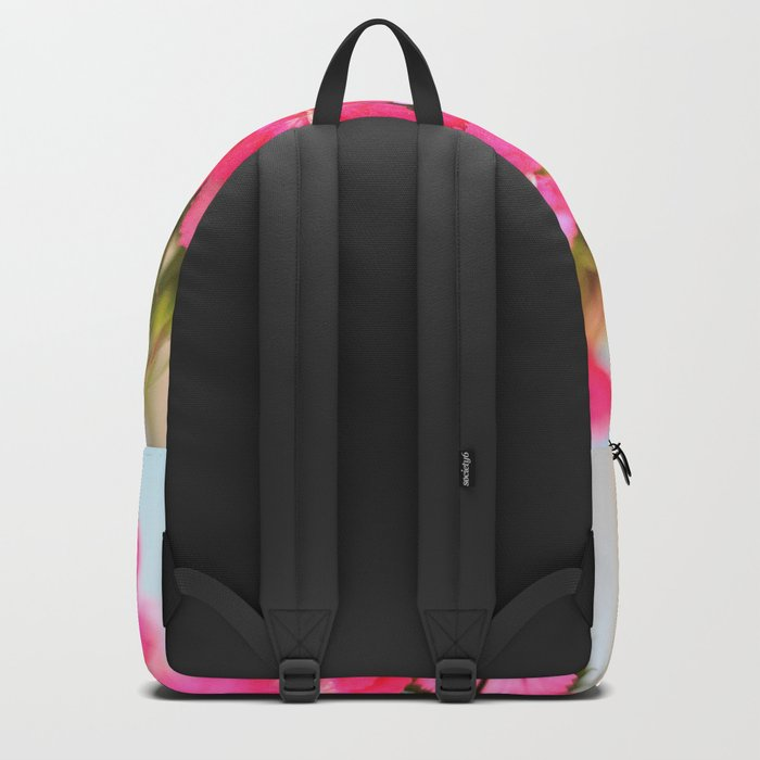 A Pink Kiss - Glowing Flowers #1 #decor #art #society6 Backpack