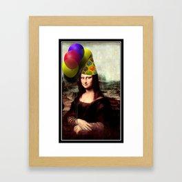 Mona Lisa Birthday Girl Framed Art Print