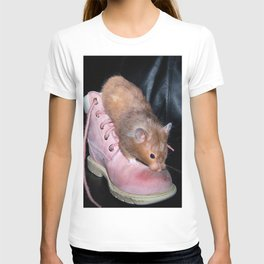 The Old Hamster in the Shoe T-shirt