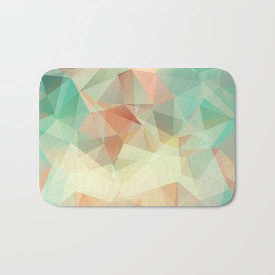 Polygon picture. Oasis in the desert. Bath Mat
