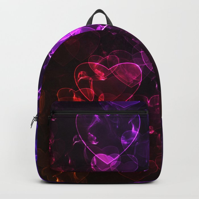Love.  Abstract pattern with hearts. Backpack