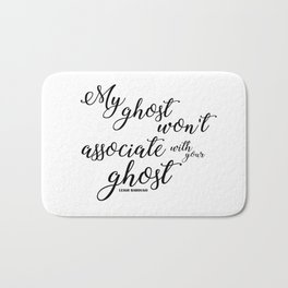 ghost (six of crows) Bath Mat
