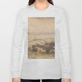 Vintage Pictorial View of Seattle & The Puget Sound Long Sleeve T-shirt