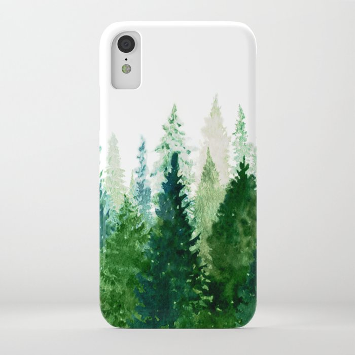 pine trees 2 iphone case