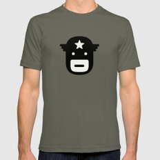 captain america Mens Fitted Tee Lieutenant SMALL