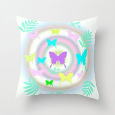 butterfly station Throw Pillow